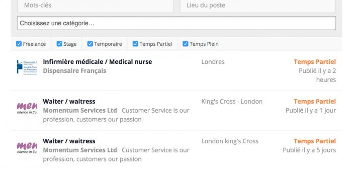 Capture offres d'emploi Londres-Expat